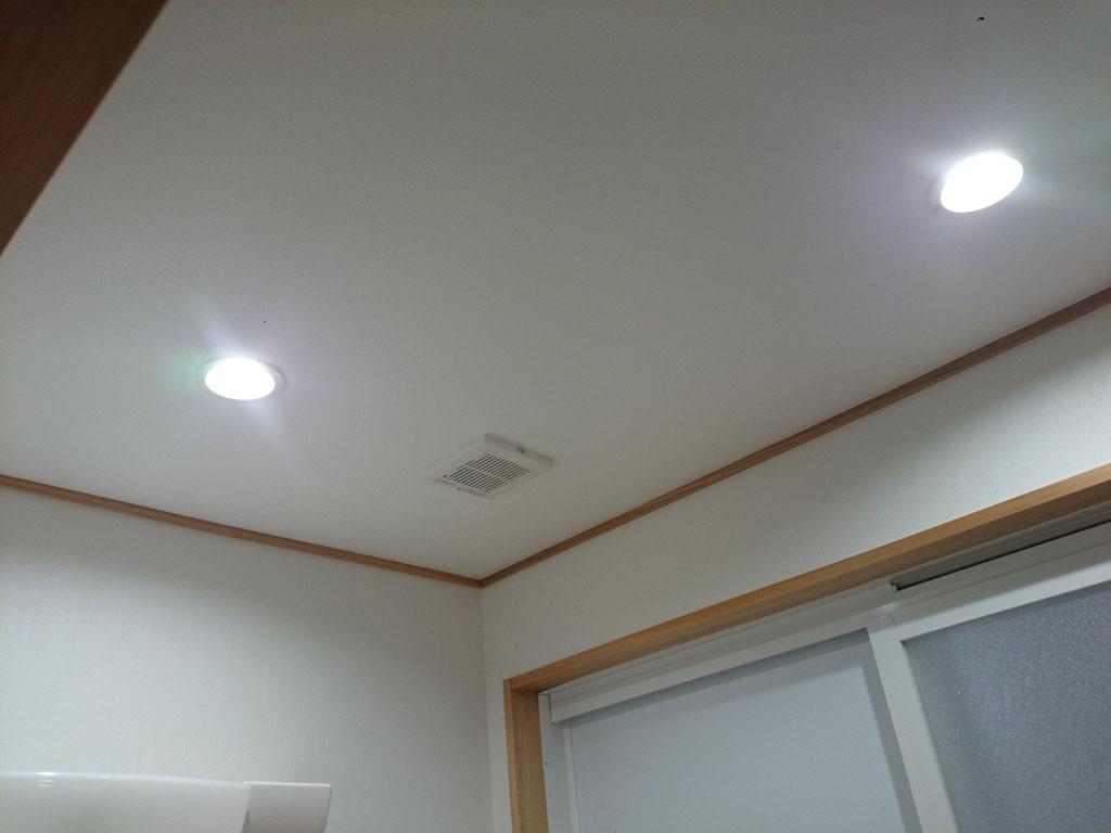 洗面室 脱衣室 ダウンライト LED