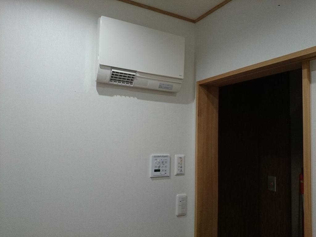 洗面脱衣室 TOTO 暖房機