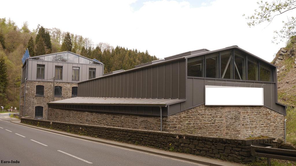 Verbliebene Produktionsgebäude