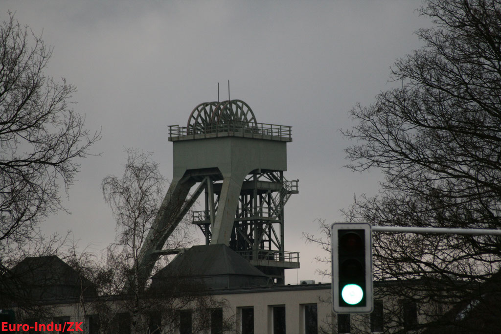 Das 2010 abgerissene Fördergerüst Schacht 2