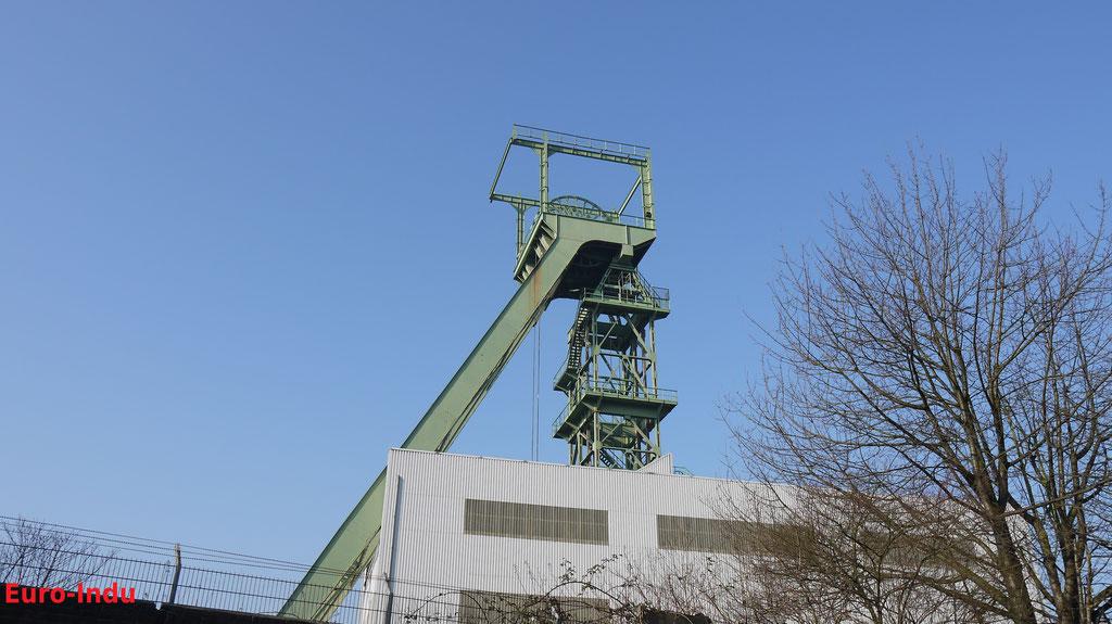 Fördergerüst des Arnoldschachtes. Das Fördergerüst der Bauart Dörnen 2 dient heute noch der Wasserhaltung bis auf eine Teufe von 600 m.