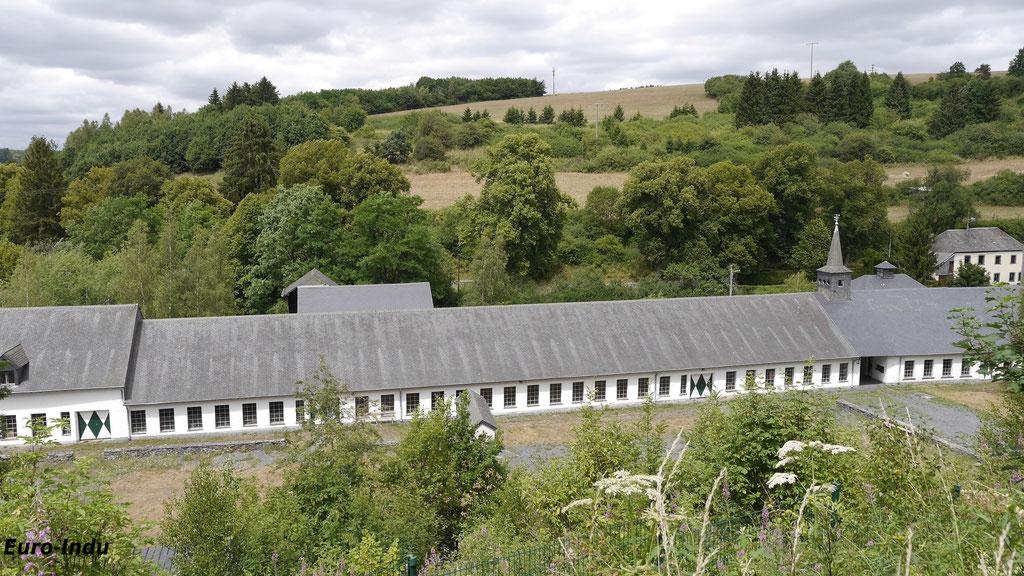 Blick auf die ehemaligen Betriebsgebäude