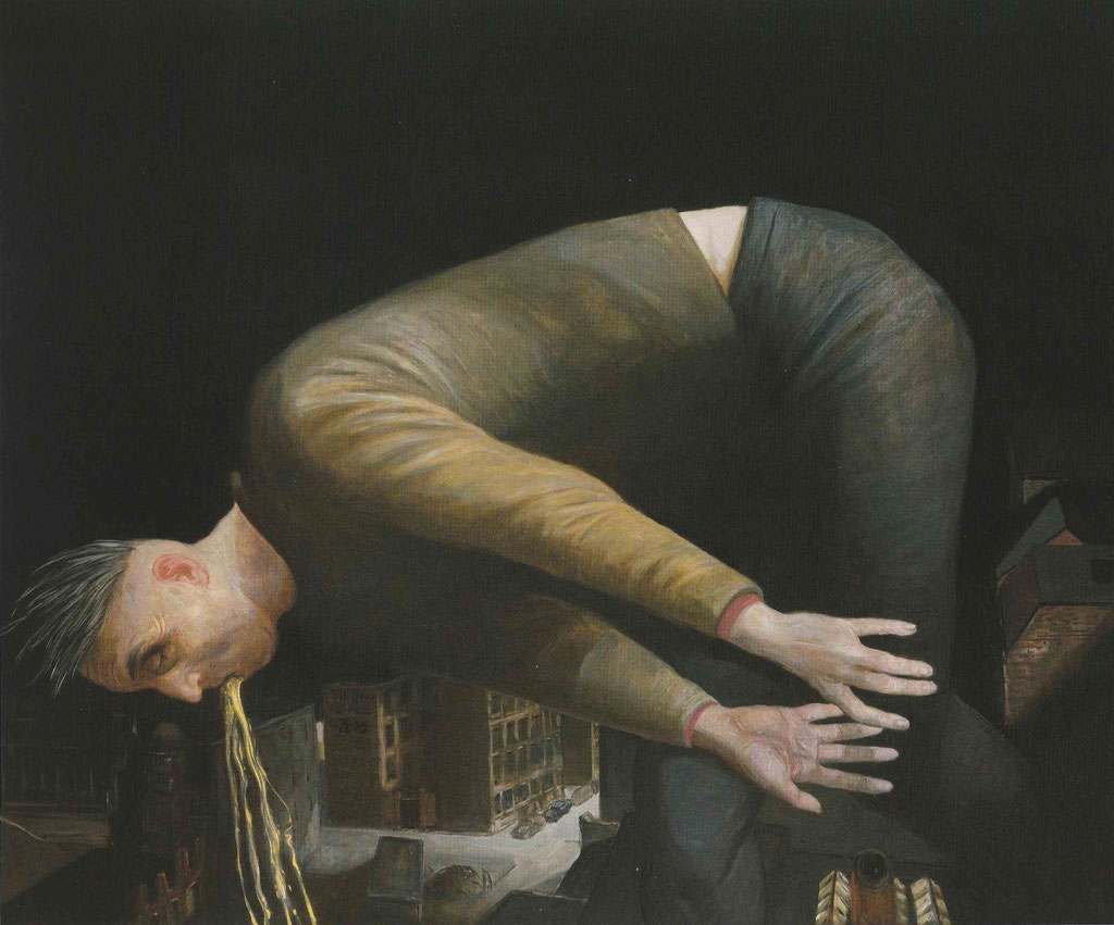 Volker Stelzmann: *Neumond*, 1988/2010, Mischtechnik/MDF, 100 x 120 cm