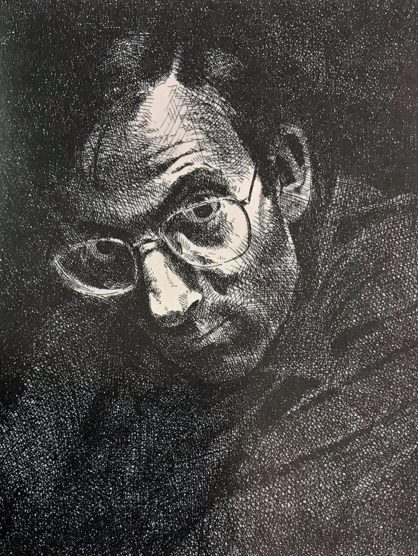 Johannes Grütkze: *Selbst*, 1977, Ex. d'Artiste, Motiv 15 x 11 cm (hinter Glas)
