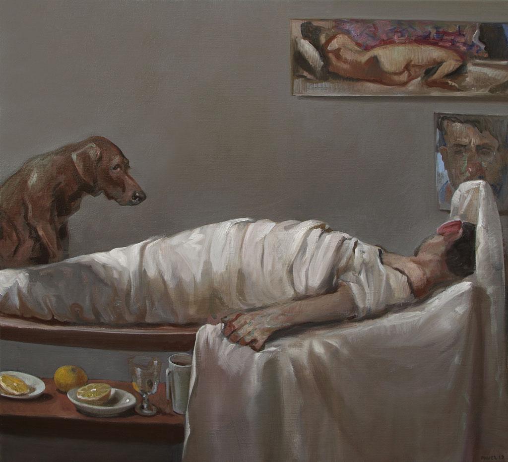 Pavel Feinstein: *N 2423*, 2019, Öl/Leinwand, 110 x 120 cm