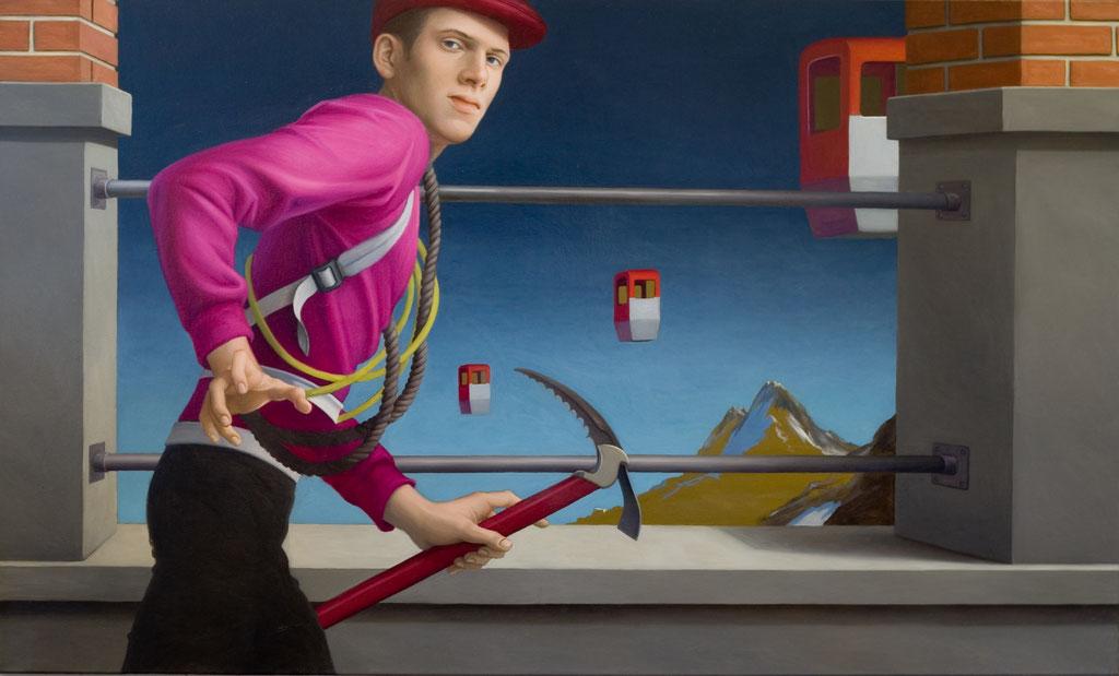 Andreas Leißner: *Aufbruch*, 2004, Öl/Leinwand, 105 x 175 cm