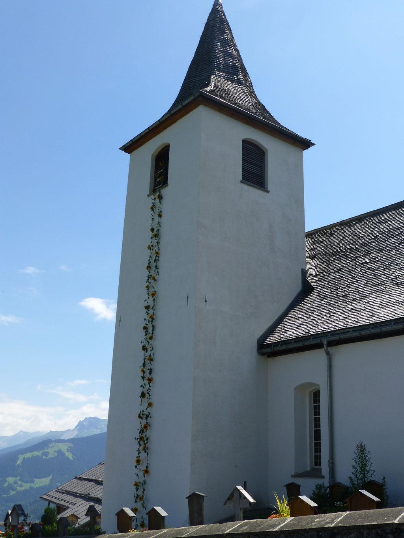 Für ein Hochzeit wurde sogar der Turm geschmückt.