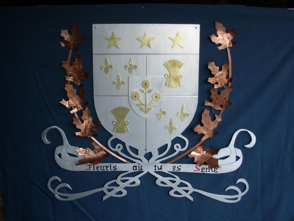"Armoiries de Saint-Joseph de Beauce, 42"" x 52"" , 2014. Vendu"