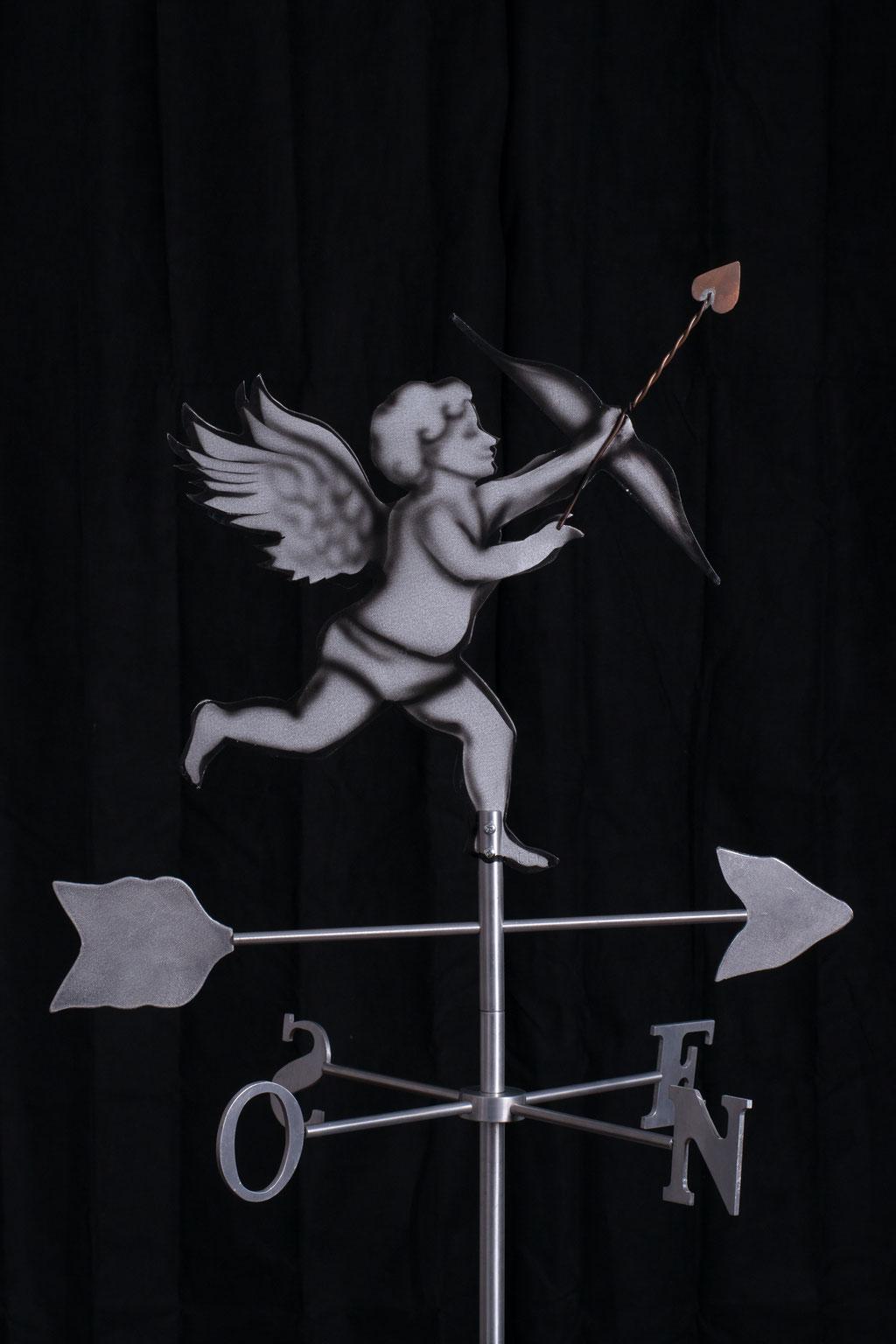 """Girouette Cupidon, Aluminium acrylique  ,36"""" haut x 24"""" x 24"""", 2015. $350.00"""