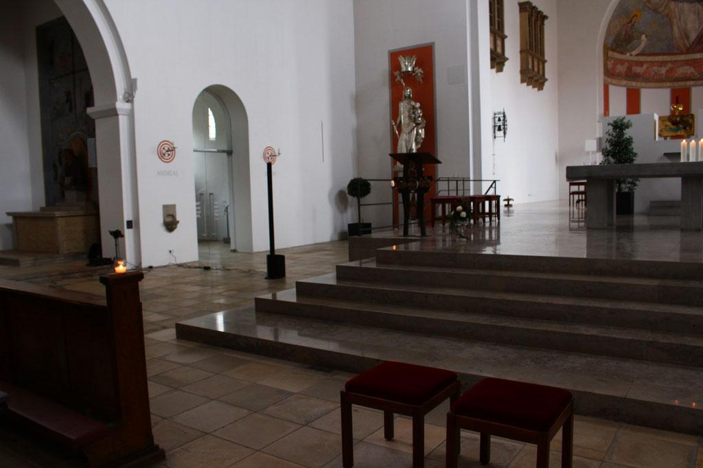 ... Setup in einer sehr großen Kirche in Nürnberg.