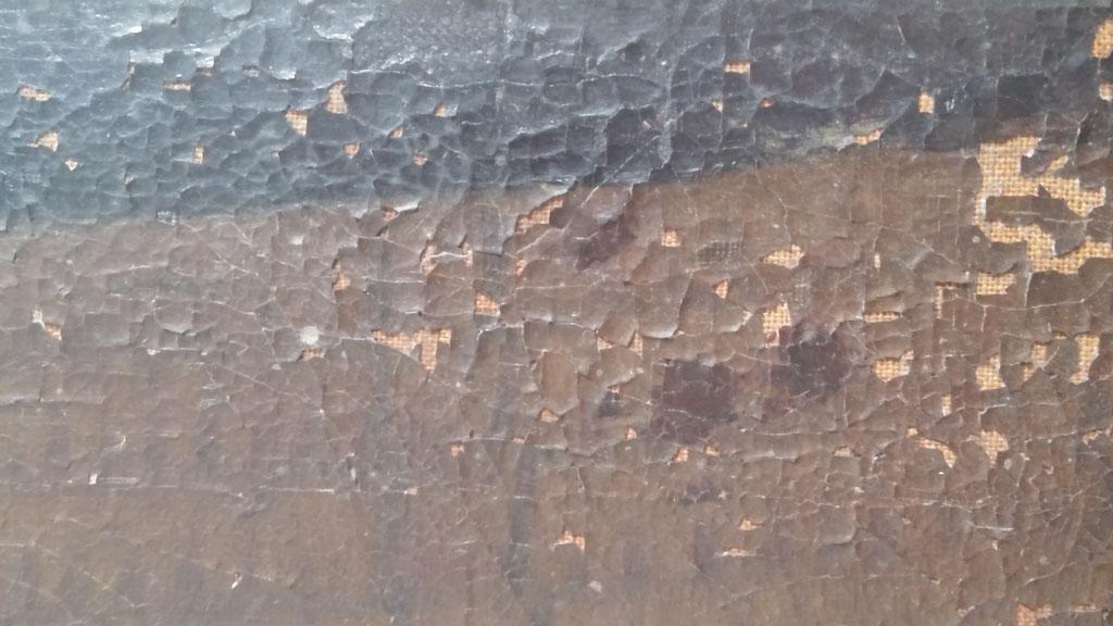 Détail des soulèvements picturaux