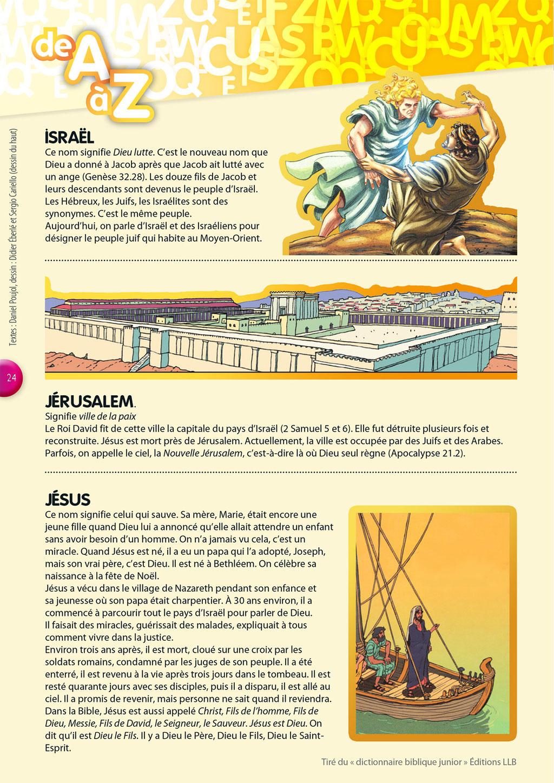 La Bible, de A à Z - De Israël à Jésus - Tournesol 406