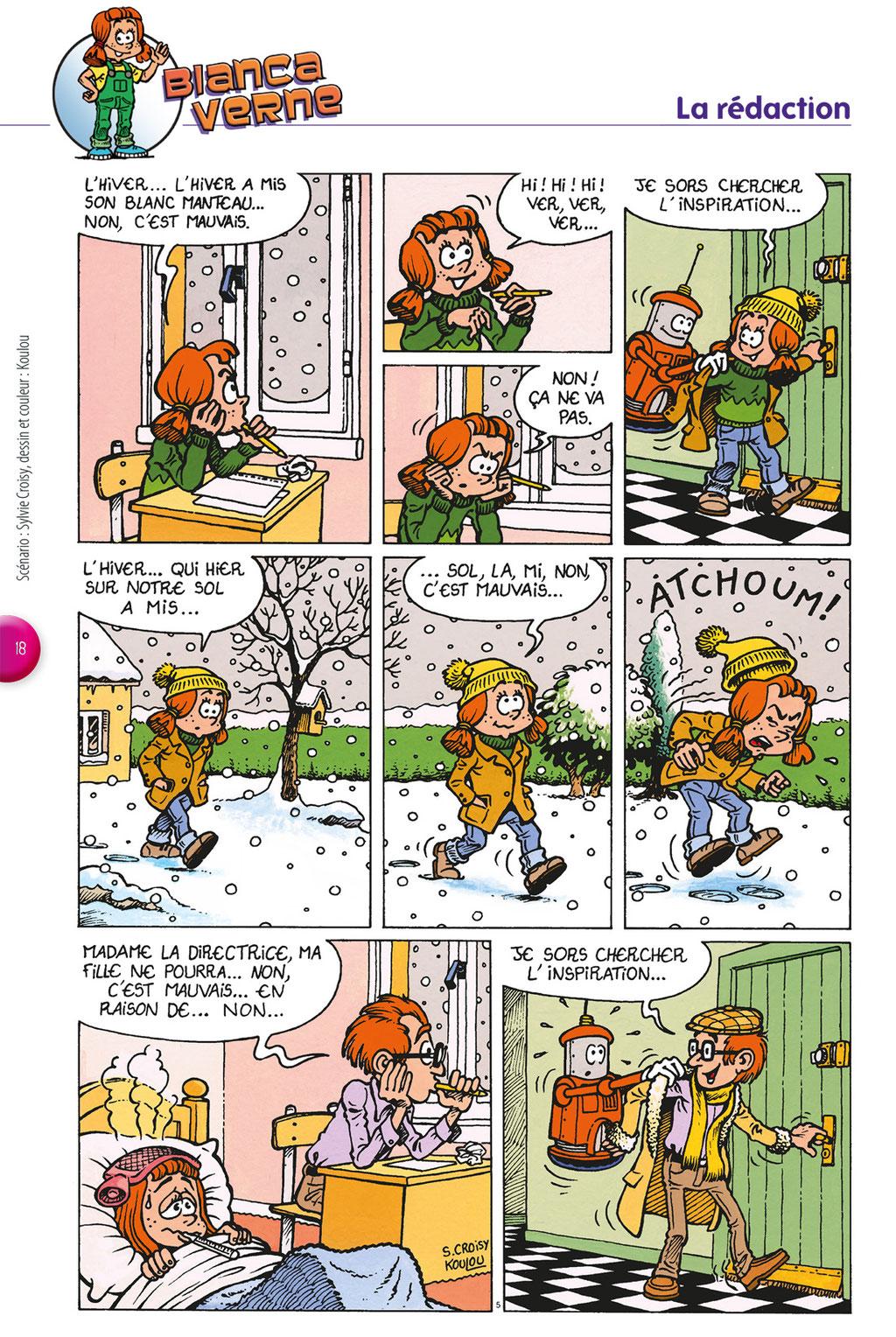Bianca-La rédaction-Tournesol 410 - Scénario : Sylvie Croisy, dessin : Koulou
