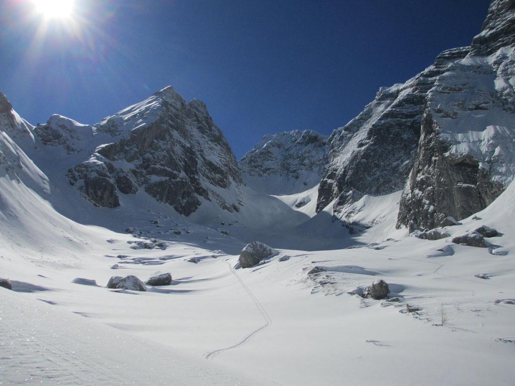 """Im Aufstieg zur """"Blaueisspitze"""", Berchtesgadener Alpen"""