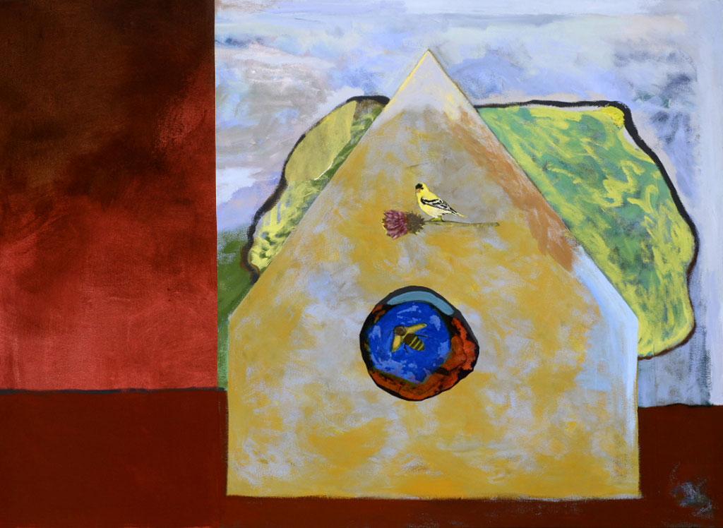 """Habitation II, 2012, 130 x 175 cm - 51"""" x 69"""", techniques mixtes sur toile - mixed media on canvas.   Photo: Réal Capuano"""