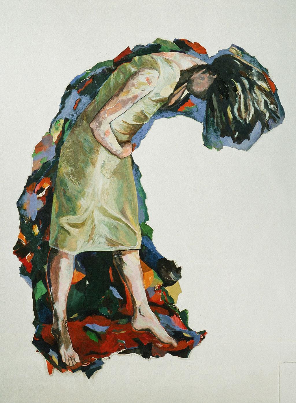 """Sans titre, 1997, 188 x 153 cm - 74"""" x 60"""", acrylique et collage sur toile - acrylic and collage on canvas."""