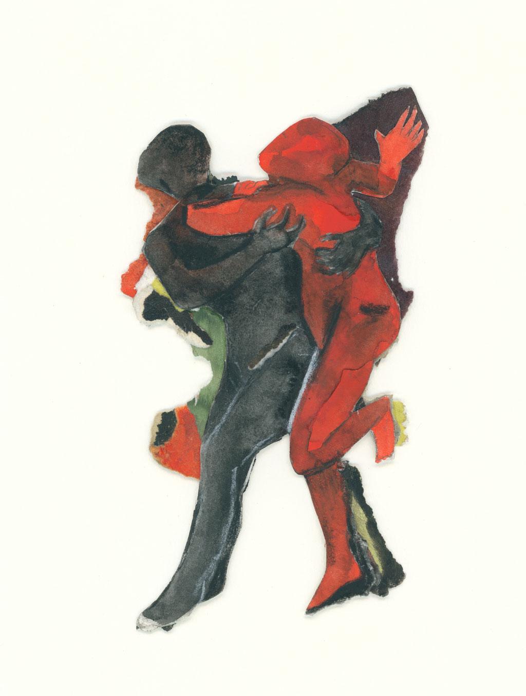 Mes ancêtres pourtant mortes muettes IV, 1991,  cm, techniques mixtes sur papier, Photo: Paul Litherland