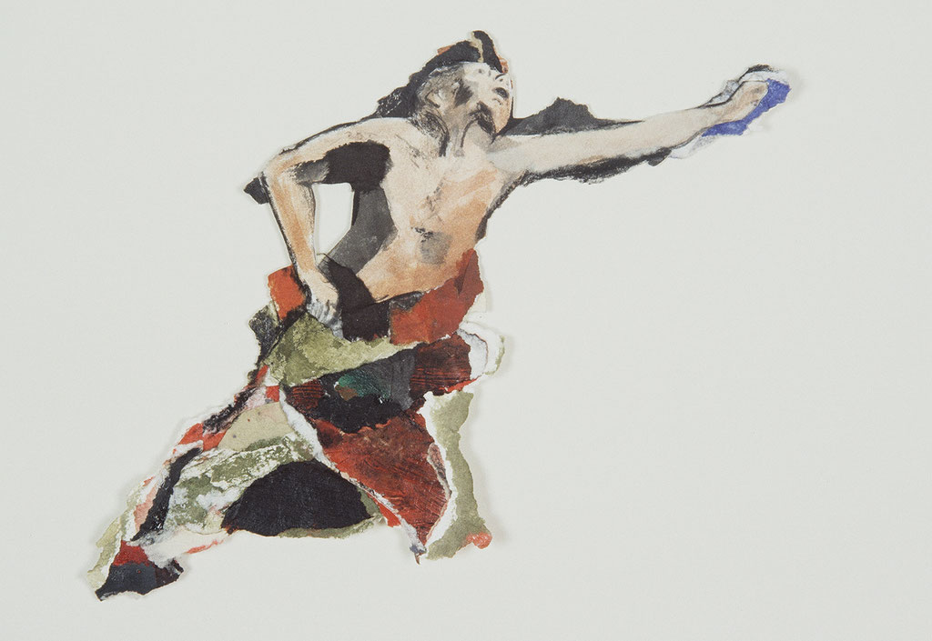 Sans titre, 1992, 21 x 22 cm, techniques mixtes sur papier. Collection privée.