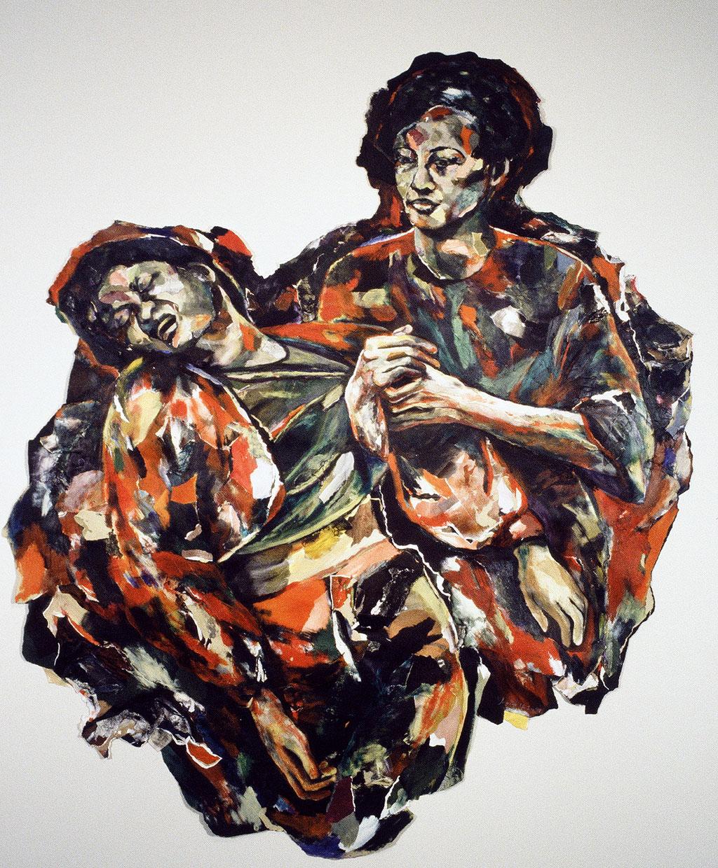 Sans titre, 1994, 152 x 176 cm, techniques mixtes sur papier.