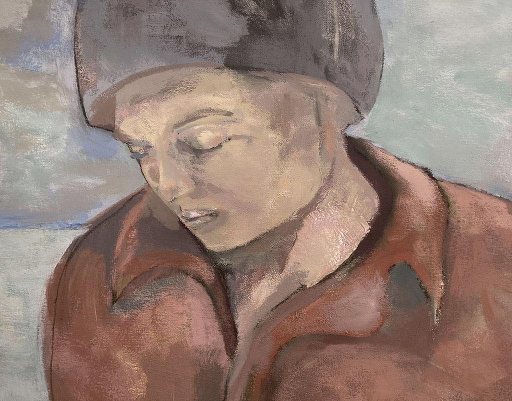 Sans titre, 2005, Détail, techniques mixtes sur toile - mixed media on canvas.