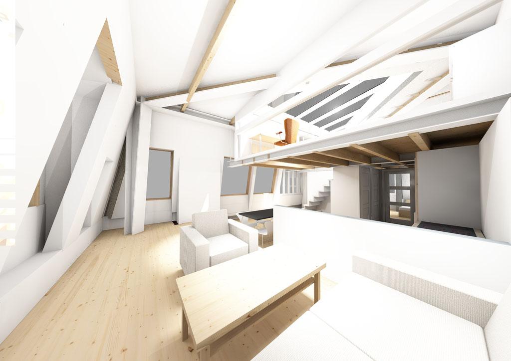 perspectief woonruimte nieuw appartement