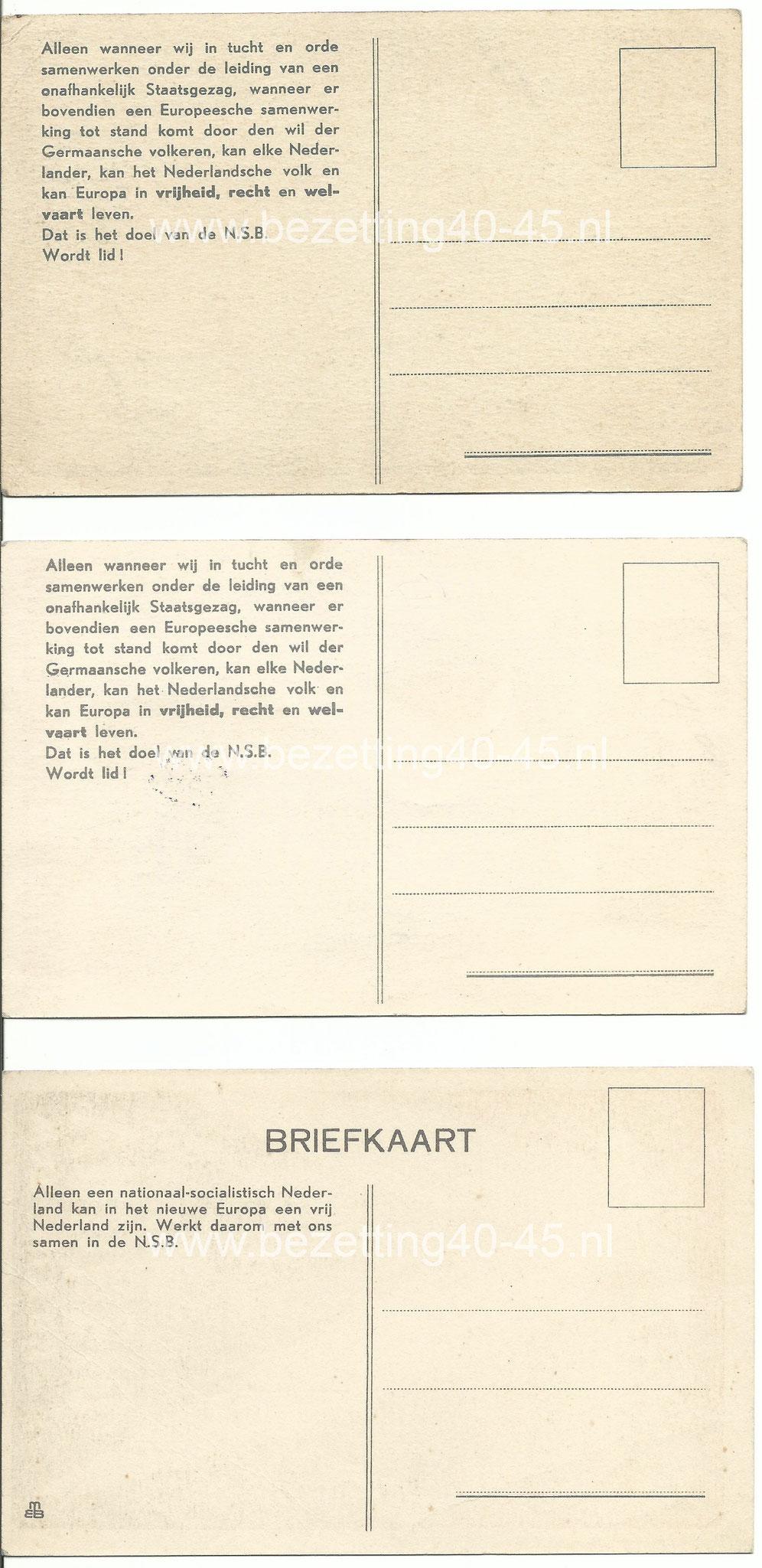 NSB briefkaarten, 3 stuks.
