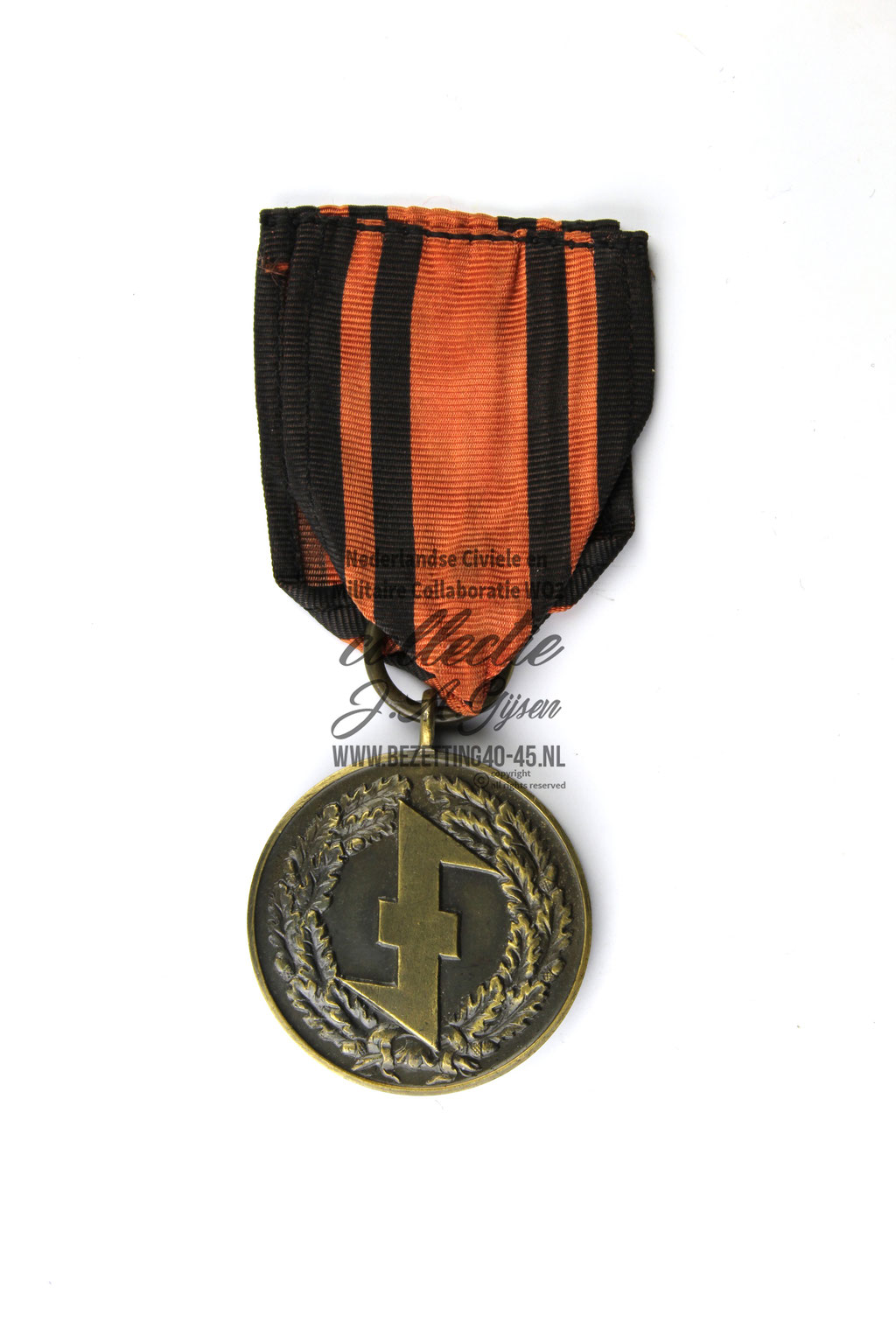 Dutch SS SA W.A. Old Fighters Madel WA Oudstrijders medaille voorkant DUTCH SS FOREIGN LEGION VOLUNTEER.  ( NSB Badge ) sale A Dutch NSB Storm Troopers Medal 1932-1935