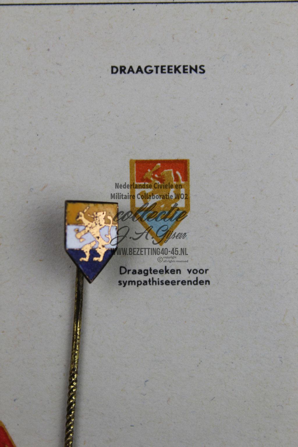 NSB Draagteken Sympathiseerden Leden. ( NSB Badge )