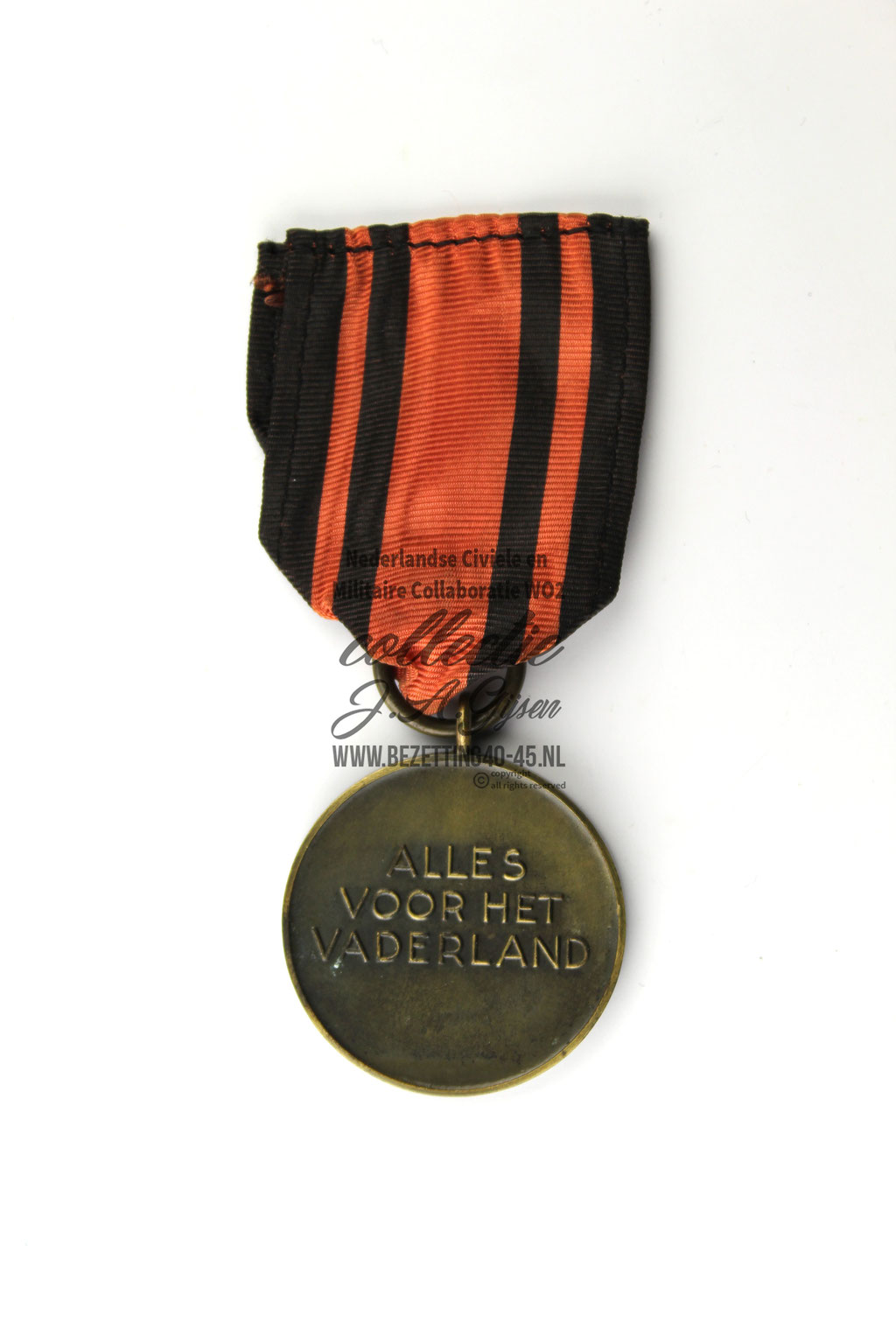Dutch SS SA W.A. Old Fighters Madel WA Oudstrijders medaille achterkant. ( NSB Badge ) sale A Dutch NSB Storm Troopers Medal 1932-1935