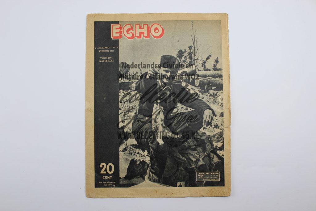 NSB Propaganda tijdschrift Echo ( Fotonieuws ) SS No. 9 september 1944 DUTCH SS FOREIGN LEGION