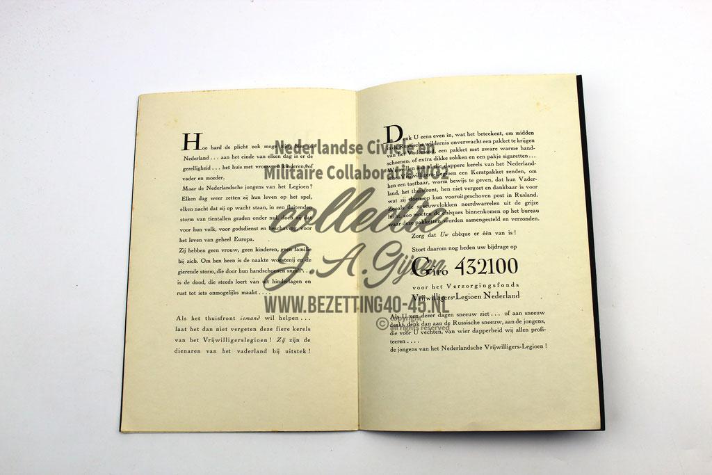 "Nederlandse SS brochure ""De sneeuw daalt zacht"" DUTCH SS FOREIGN LEGION VOLUNTEER"