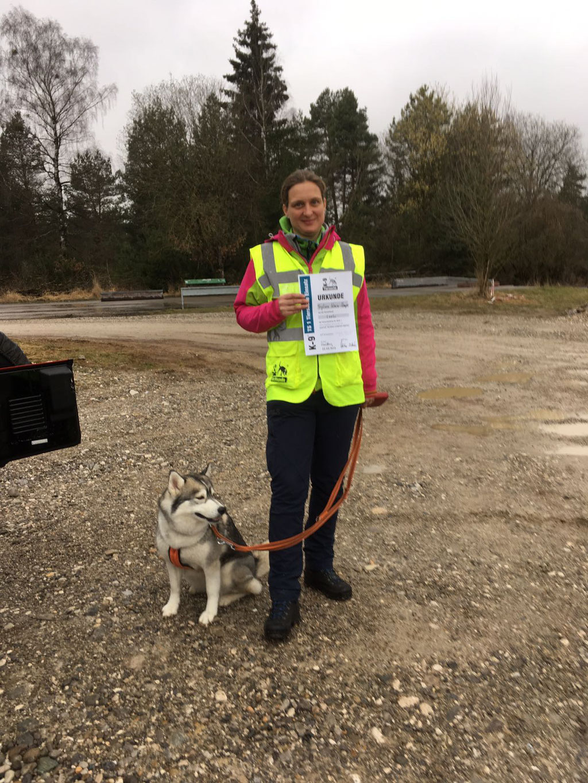 Sylvia mit Leelo Tiersuche1 - Einsatzprüfung am 22.03 2017
