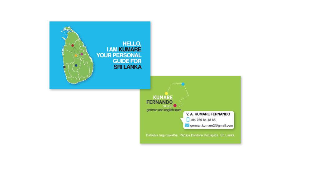 Visitenkarte für einen singhalesischen Kunden