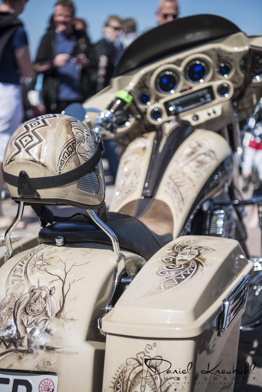 Big Five - die wohl schönste Harley an der diesjährigen Summer Party auf Sylt