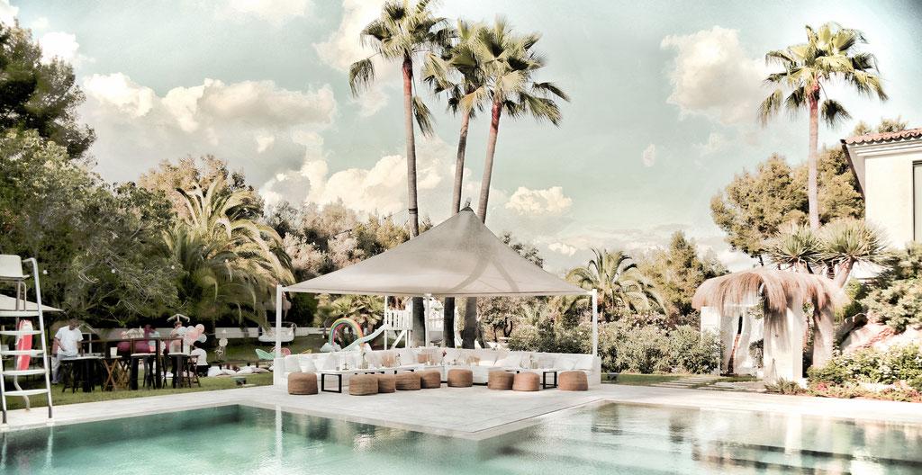 © Lifetime Events Mallorca, 2019, Finca Events, Tropical Miami Style