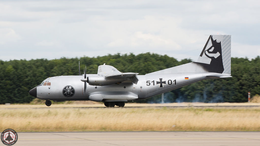 "51+01 German Air Force C-160D Transall special cs ""Silber Gams"""