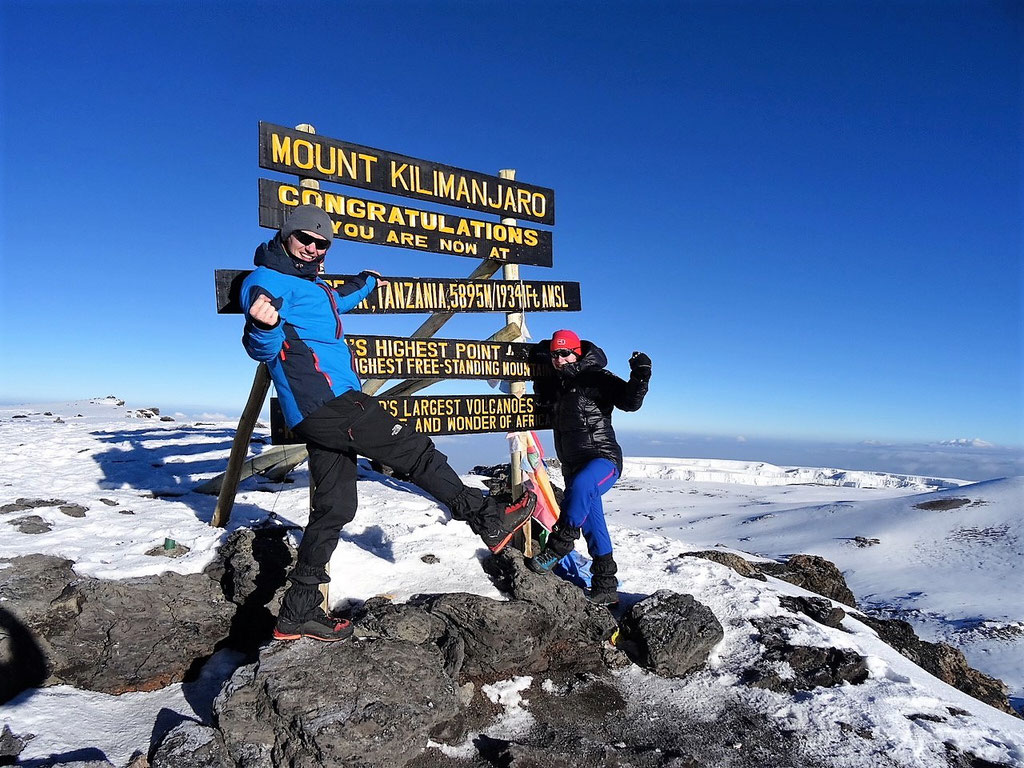 Gipfelsieg am Kilimandscharo