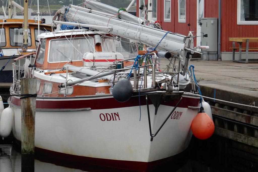 Aalborg Odin mit gelegten Masten
