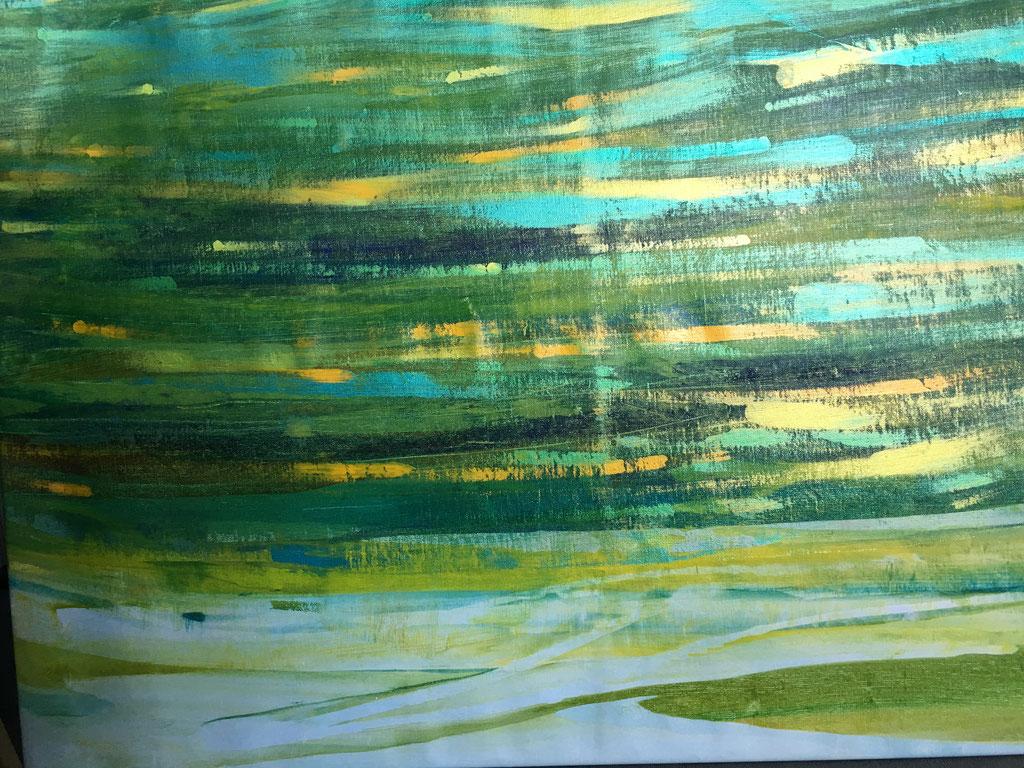 Peinture acrylique sur toile, 120cmx91cm
