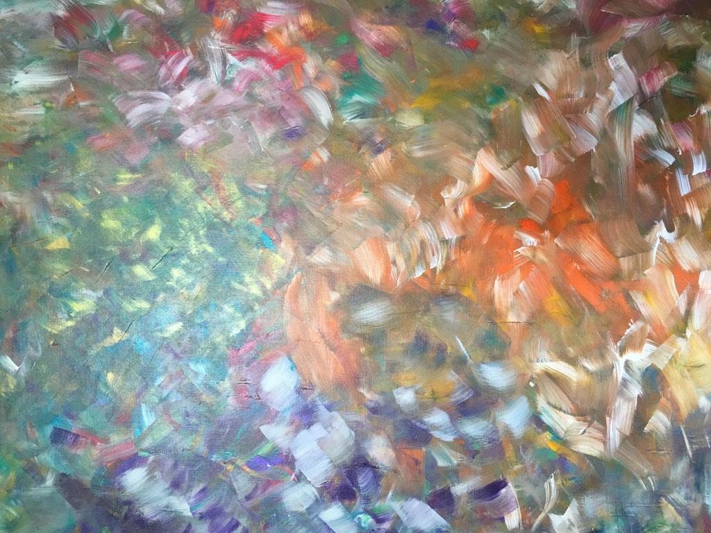 Peinture acrylique sur toile, 189cmx140cm