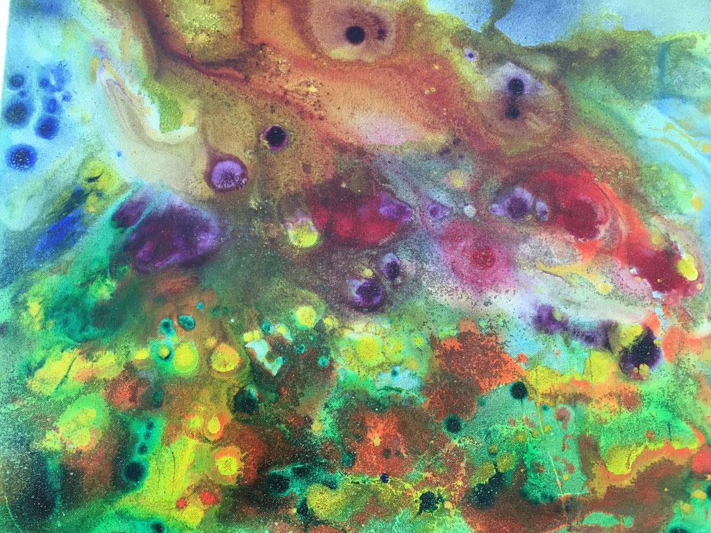 Peinture acrylique sur toile, 70cmx50cm