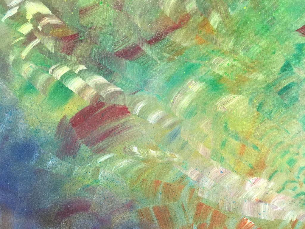 Peinture acrylique sur toile, 65cmx50cm