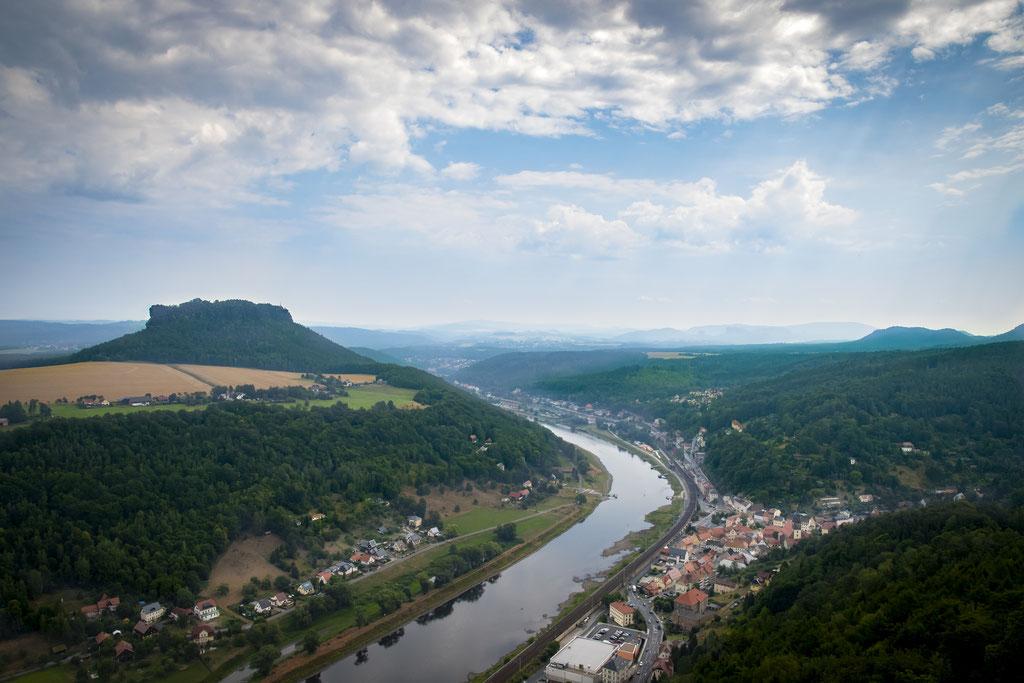 Sächsische Schweiz/ Lilienstein und Elbe