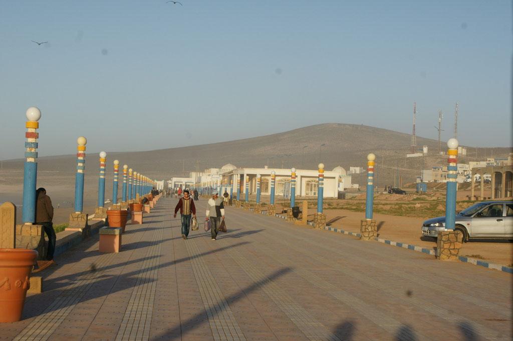 Strandpromenade von Aglou plage
