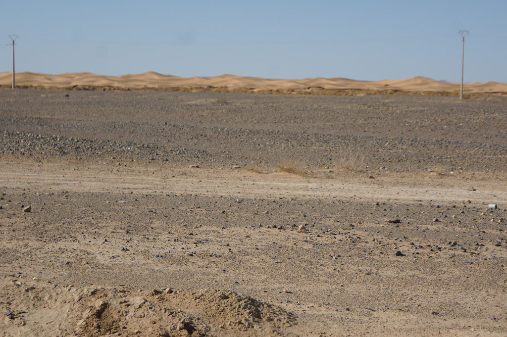 Erster Blick auf die Dünen
