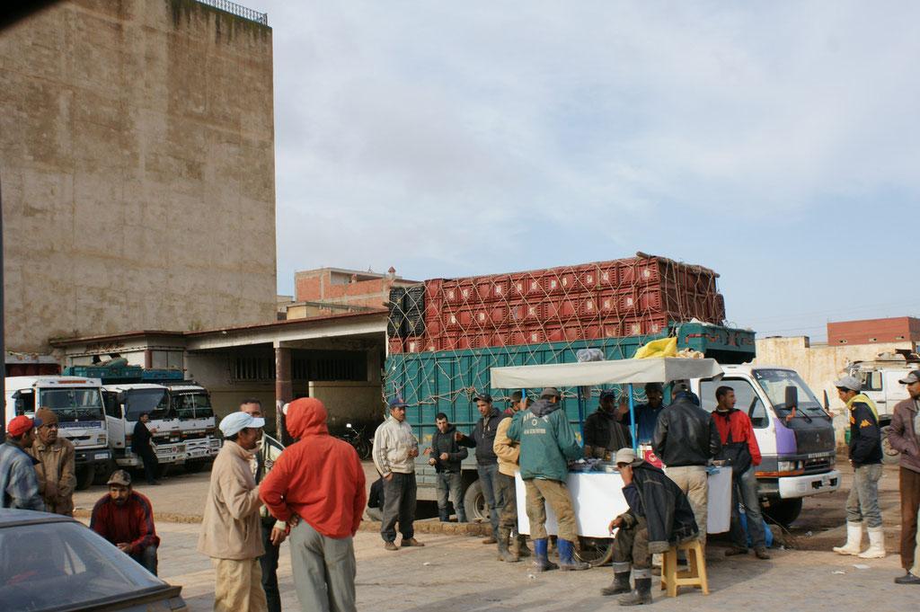 Der Umschlagplatz für die Güter