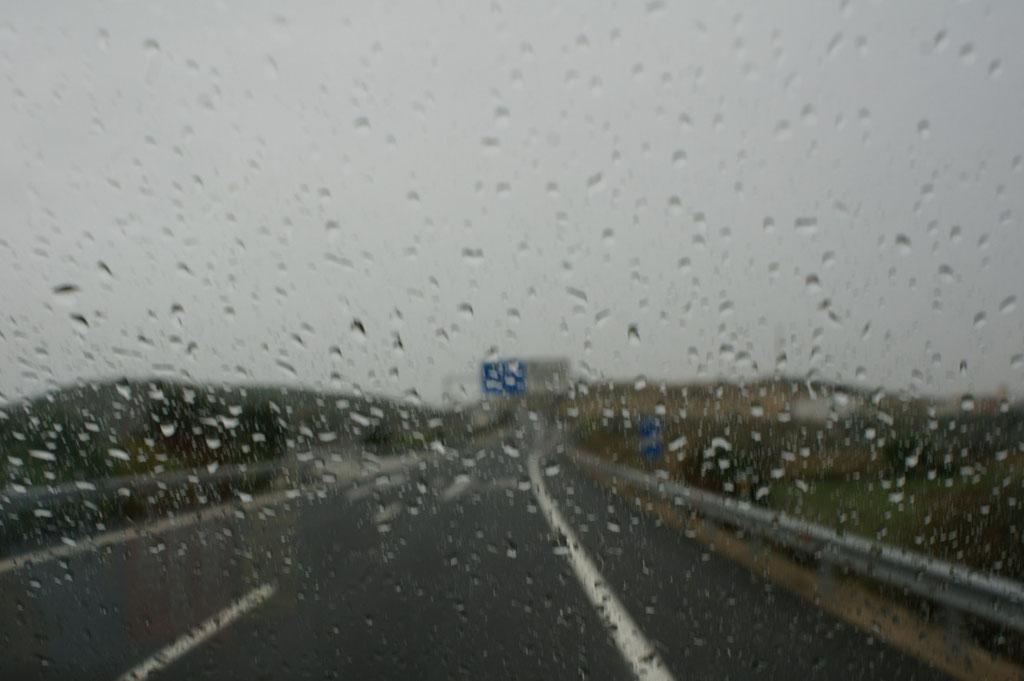 Schon hat uns der Regen wieder eingeholt