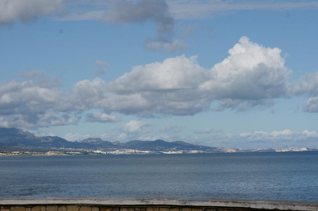 Blick zurück Richtung Ceuta