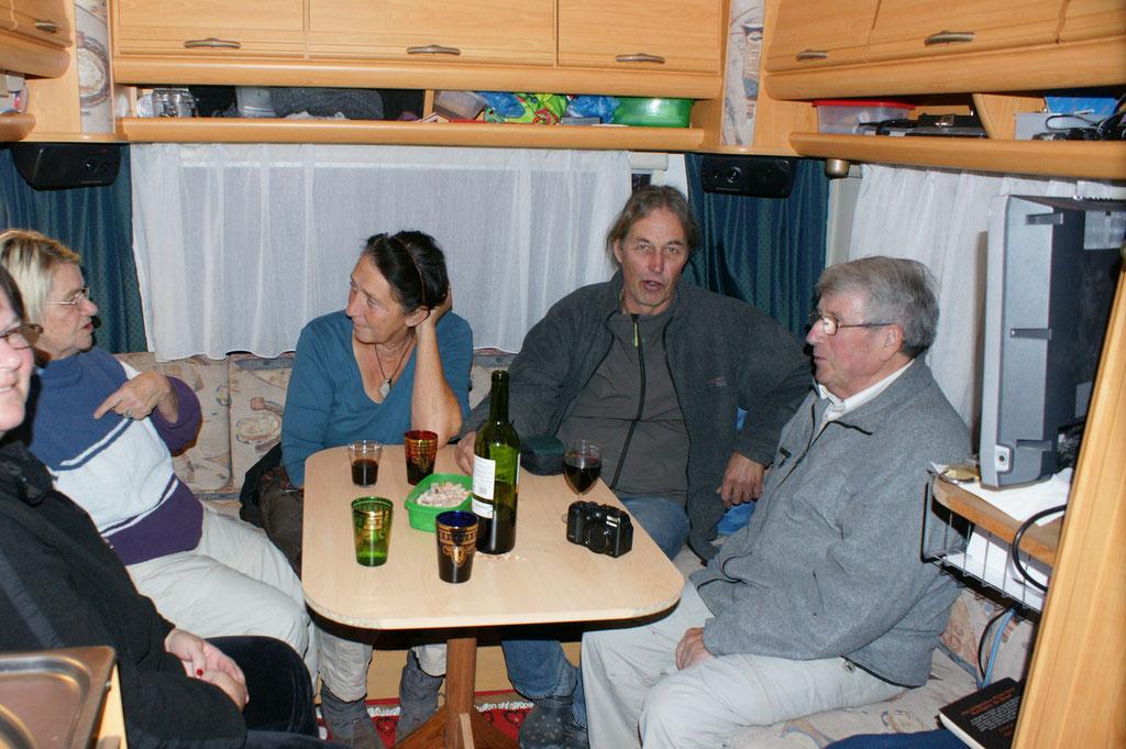 Klaus, Holger, Doris, Ingrid, ich ( von rechts)