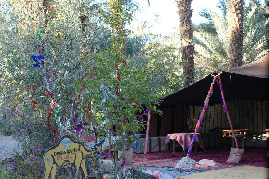 Auf dem Camping ist es auch schön dekoriert